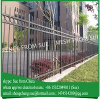 Buy cheap 6ft high Black painted strong school fence villa fencing for Australia product