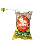 China 140 Micron Food Grade Printed Laminated Pouches Back Sealing Inflatable Chips on sale