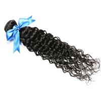 China Cuticle virgin Brazilian hair weave ,deep curly (water curly) wholesale