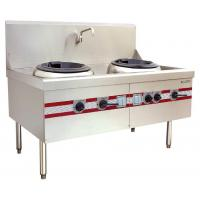 Buy cheap Air Blast Type Wok Range Double Burner Cooking Stove 1500 x 910 x (810+back) mm product