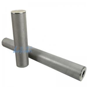 Buy cheap SUS304 SUS316L Stainless Steel Mesh 100um Sintered Metal Cartridge Filter product