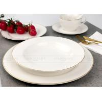 Buy cheap Exquisite White Porcelain Dinner Sets Tableware With Real Gold Line product