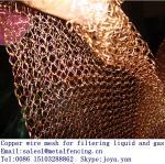 O filtro líquido de bloqueio do ar do teste padrão do laço fez malha a rede de arame de cobre