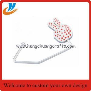 Buy cheap Custom Promotion Purse Hook Foldable Fashion Table Top Metal Handbag/Bag Hanger for gifts product