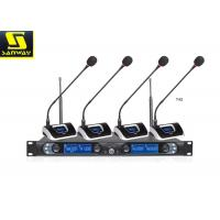 Quality 8845B Four Channel Wireless Microphone System Wireless Conference Microphone Black for sale