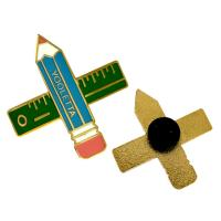 Buy cheap Cute Pencil Shape Soft  Enamel Lapel Pins For Children ' S Study , 2 Inch from wholesalers