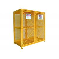 Buy cheap Expanded Metal Oxygen Cylinder Storage Cages , Twin Door Gas Can Storage Cabinet product