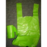 Buy cheap Green Durable T Shirt Plastic Bags On roll for Shopping , Plastic merchandise bags product