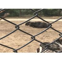 Buy cheap Heavy Black Chain Link Fence 5.0 Diameter 6cm X 6cm Hole For Zoo product