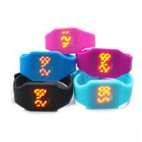 Buy cheap Waterproof Silicone Digital Led Watch , Electronic Movement Square Unisex Watches product