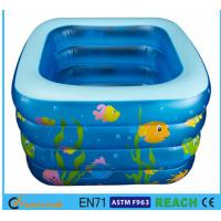 Buy cheap Square Inflatable Swimming Pool Sea Animal Printing Easy Setting Up For Kids Toy from wholesalers