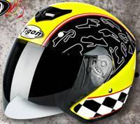ECE Motorcycle Open Face Helmet  Half Face Helmet