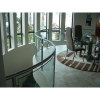 Buy cheap Safety Building bending tempered glass , Clear tempered glass wall panels product