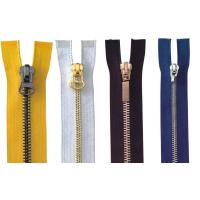 Buy cheap 4# Close End Auto Lock For Pants Brass Y Teeth Metal Zippers , jean jackt cover from wholesalers