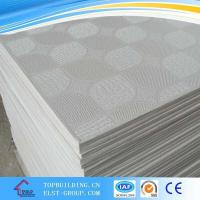 Buy cheap PVC Laminated Gypsum Ceiling Tile/PVC Gypsum Ceiling Tile/Gypsum Ceiling Board/ Standard Gypaum Board product