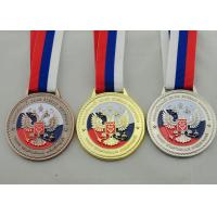 Buy cheap Die Casting 3D Boxing Ribbon Medals with High 3d And High Polishing for Company Promotional Gift product