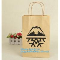 China Cheap small paper gift bags Promotional Luxury OEM Design Gold Foil Logo Wedding Custom Paper Gift Bag with Ribbon PACK on sale