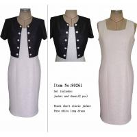 Buy cheap Contrast Color Short Sleeve Slim Fit Tailor Suits Designs for Lady product