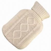 Buy cheap Hot Water Bottle with Knitted Cover, Used as Medical Supplies, Body Warming and Outdoor Gadget product