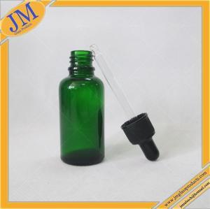 Buy cheap botella del dropper del vidrio verde 1oz con el casquillo plástico negro product