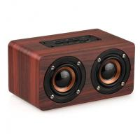 Buy cheap Retro Wood Bluetooth Speaker Wireless Speaker Support AUX TF Card for Smartphone product