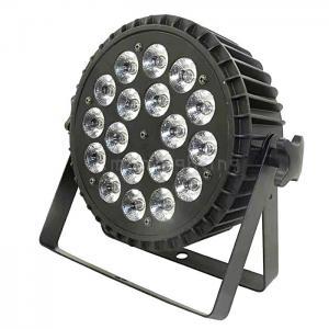 Buy cheap Big Lens DMX 18x10w RGBW 4in1 Aluminum Cast Indoor LED Flat Par Light product