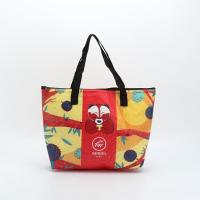 Buy cheap Customized Non - Woven Laminated Tote Bags Pouch Beach Bag With Zipper product