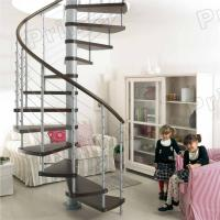 Buy cheap PVC Handrail Solid Wood Spiral Staircase product