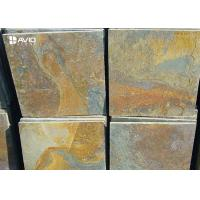 Buy cheap Rusty Yellow Natural Slate Floor Tiles Non Slip Wear Resistant OEM / ODM Service product