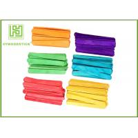 Colored Art And Craft Ice Cream Stick Diy Usage , Thick Craft Popsicle Sticks For Kindergarten