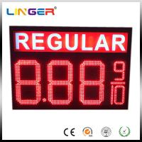 Buy cheap IP65 Waterproof Electronic LED Digital Gas Price Screen Customized Design Installation from wholesalers