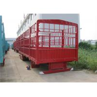 Buy cheap 3 axle Fence cargo Semi Trailer with Gooseneck style optional for livestock / cow / battle transportation product