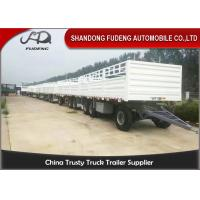 Buy cheap 30000 - 50000kg Side Panel Draw Bar Trailer Mechanical / Air Suspension product