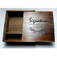 Buy cheap Wedding Gift Slide Top Wooden Box , Pine Square Wooden Box With Lid product