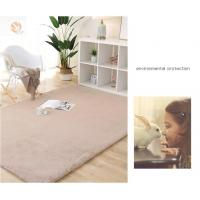Buy cheap 100% Polyester carpet rug Black/Brown/Gray/Red/White Faux rabbit fur rug carpet for kids room living room bed room product