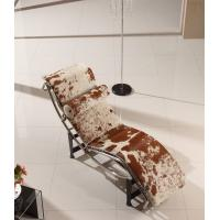 Buy cheap Le Corbusier LC4 Leather Bedroom Chaise Lounge Chairs With Black Iron Base product