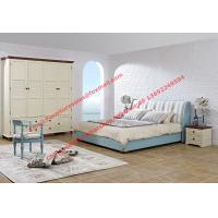Buy cheap Mediterranean style furniture fabric bed Leisure interior design Residential apartment furnishing with wardrobe cabinet product