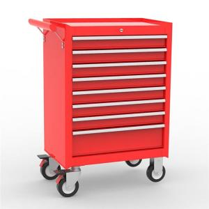 Buy cheap Anti Slip 8 Drawer Mobile Red Tool Chests Cabinets product