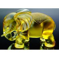 Buy cheap Amber Colored Glaze Crafts , Office / Home Decoration Elephants Figurine Statue product