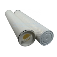 Buy cheap 1 Microns 222 Flat Glass Fiber 64mm PP Pleated Filter Cartridge product