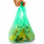 40 % Bio Based Biodegradable Plastic Shopping Bags , Eco Friendly Plastic Bags
