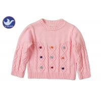 Buy cheap Long Sleeves Girls Cable Knit Jumper Crew Neck Pullover Style Anti - Pilling product