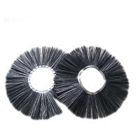 China Cold Resistant Road Broom Sweep Brush , Black Wafer Snow Cleaning Brush on sale