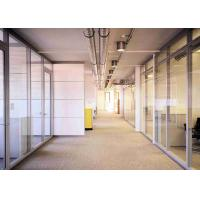 Buy cheap Double Glazed Demountable Glass Partitions , Glass Office Partitions  Dry Clear Pvc Joint product
