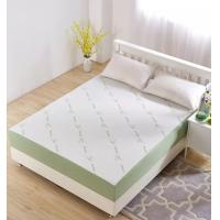 Green Bamboo Memory Foam Mattress Protector Queen Size TPU Material Easy Removed