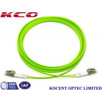 Buy cheap OM5 Multimode Duplex Fiber Optic Cable Lime Green 10m 20m 30M Lenth PVC LSZH product
