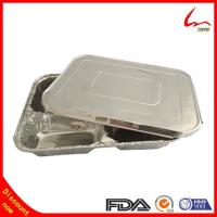 Buy cheap Disposable Restaurant Use Take Away Aluminum Foil Plate With Lid from wholesalers