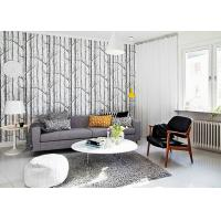 Buy cheap Vantage Birch Tree Modern Removable Wallpaper / Wallpaper for Living Room  0.53*10M product
