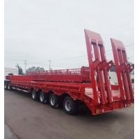 Buy cheap Gooseneck Lowboy Low Bed Semi - Trailer 50t 60t 80t For Container Transportation product