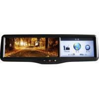 Buy cheap 4.3 IGO 8 Garmin Map MP4 DVR, 1080P, Entertainment Rear View Mirror Monitor / GPS Rearview Mirror product